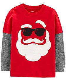 Carter's Baby Boys Santa Graphic Cotton T-Shirt