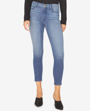 Social Standard Ankle Skinny Jeans, District Blue