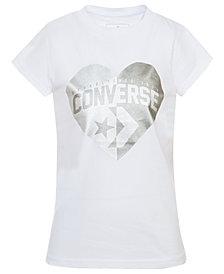 Converse Big Girls Heart Logo T-Shirt