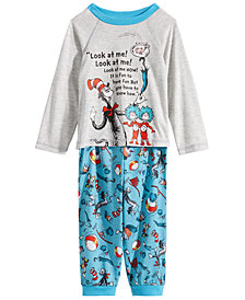 Dr. Seuss Toddler Boys 2-Pc. Cat in the Hat Pajama Set