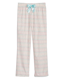 Mx & Olivia Big Girls Fair Isle Pajama Pants, Created for Macy's