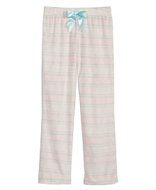 Max & Olivia Big Girls Fair Isle Pajama Pants, Created for Macy's
