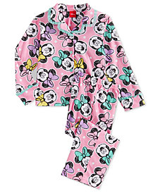 Minnie Mouse Little Girls 2-Pc. Pajamas Set, Created for Macy's