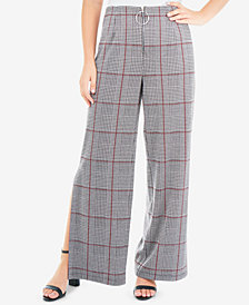 NY Collection Side-Slit Wide-Leg Pants
