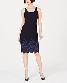 Betsey Johnson Embroidered Scuba Dress