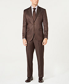 Dockers® Men's Classic-Fit Stretch Brown Sharkskin Suit