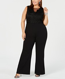 07a1dfecd4c Adrianna Papell Plus Size Sequin Illusion Jumpsuit   Reviews ...