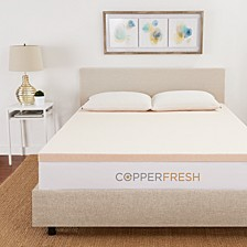 """CopperFresh Queen 3"""" Gel Memory Foam Mattress Topper"""