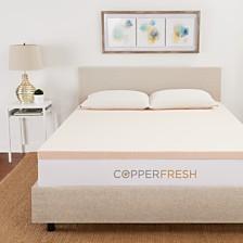 Sleep Studio CopperFresh Twin XL Gel Memory Foam Mattress Topper Collection