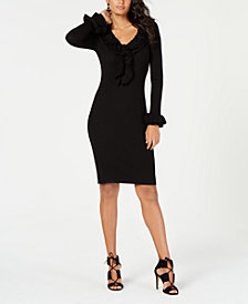 Trina Turk Quill Ruffled Sweater Dress