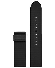 Tory Burch Women's ToryTrack Gigi Black Rubber Smart Watch Strap