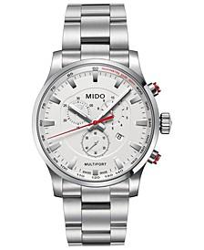 Men's Swiss Chronograph Multifort Stainless Steel Bracelet Watch 42mm