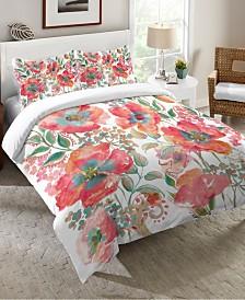 Laural Home Bohemian Poppies Queen Comforter