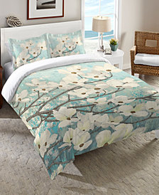 Laural Home Dogwood Blossoms Twin Comforter