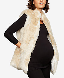 BB Dakota Maternity Faux-Fur Vest