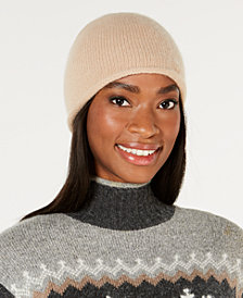 Charter Club Rolled Cashmere Beanie, Created for Macy's