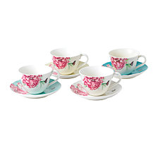 Miranda Kerr for Royal Albert  Everyday Friendship Teacup & Saucer Set of 4