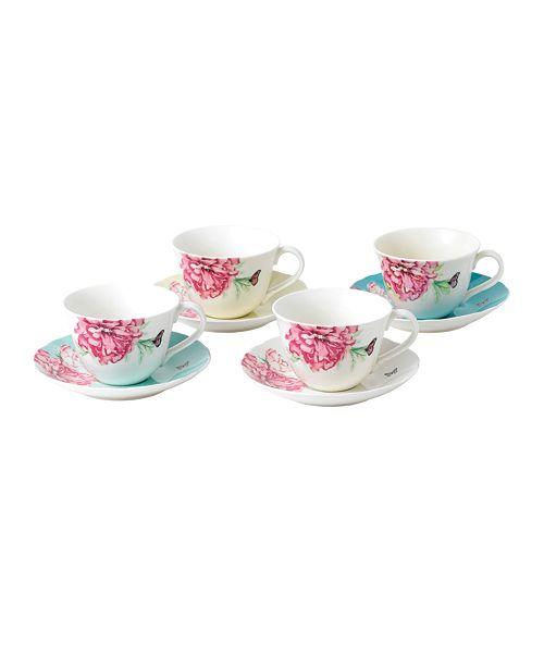 Royal Albert Miranda Kerr for  Everyday Friendship Teacup & Saucer Set of 4
