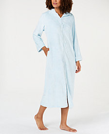 Miss Elaine Textured Fleece Zip Robe