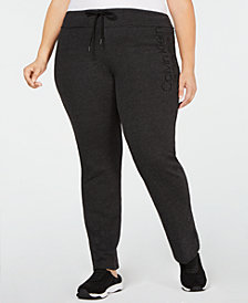 Calvin Klein Performance Plus Size French Terry Logo Pants