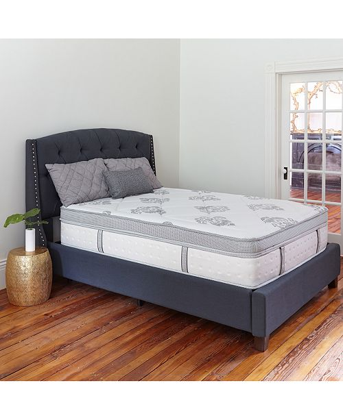 "Sleep Trends Hartz King 14"" Wrapped Coil Hybrid Box Top Mattress"