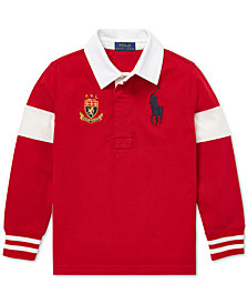 Polo Ralph Lauren Toddler Boys Big Pony Cotton Rugby Shirt