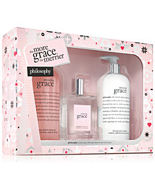 philosophy 3-Pc. Amazing Grace The More Grace, The Merrier Jumbo Amazing Grace Holiday Gift Set
