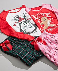 Max & Olivia Big Girls Holiday Pajamas