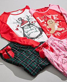 Max & Olivia Big Girls Holiday Pajamas