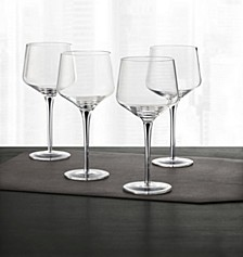 Set of 4 Black-Cased Stem Wine Glasses, Created for Macy's