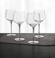 Hotel Collection Set of 4 Black-Cased Stem Wine Glasses, Created for Macy's
