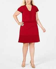 MICHAEL Michael Kors Plus Size Flare-Hem Sheath Dress