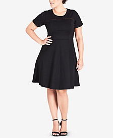 City Chic Trendy Plus Size Classic Fit & Flare Dress