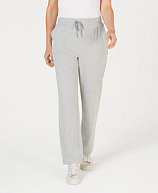 Karen Scott Petite Drawstring Straight-Leg Pants, Created for Macy's