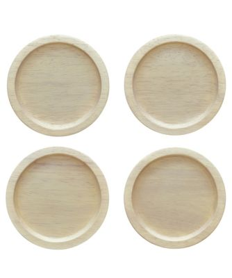 Hammock Wood Set of 4 Coasters