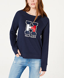 Tommy Hilfiger Thumbhole Logo Top, Created for Macy's