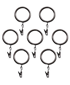 Decopolitan Curtain Clip Ring for 1-Inch Rod, Set of 7, Bronze