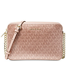 MICHAEL Michael Kors Metallic Signature East West Crossbody