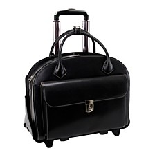 "Glen Ellyn 15"" Patented Detachable -Wheeled Ladies Laptop Briefcase"