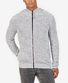 Kenneth Cole New York Men's Full-Zip Mock-Collar Cardigan