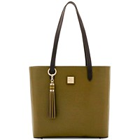 Dooney & Bourke Hadley Coated Leather Tote (Olive/Gold)