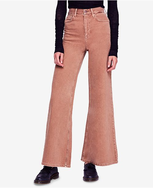 9fdb6a1b1ec Free People Super High-Rise Wide-Leg Jeans   Reviews - Jeans - Women ...