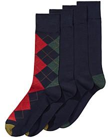 Men's 4-Pk. Argyle Socks