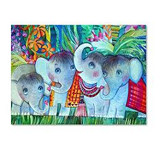 Oxana Ziaka 'Baby Elephant' Canvas Art Collection