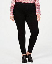 Style & Co Plus Size Faux-Fly Jeggings, Created for Macy's