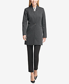 Tommy Hilfiger One-Button Jacket, Mandarin-Collar Blouse & Slim-Leg Pants