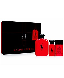 Men's 3-Pc. Polo Red Gift Set, A $146 Value