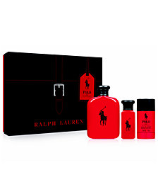 Ralph Lauren Men's 3-Pc. Polo Red Gift Set
