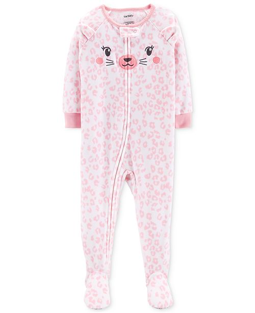 1fc69780d Carter s Toddler Girls Cheetah-Print Footed Pajamas   Reviews ...