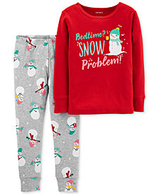 Carter's Toddler Girls 2-Pc. Cotton Snow Problem Pajama Set